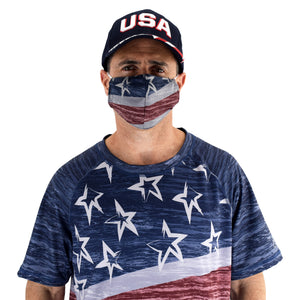 Patriotic Face Covering made in the usa - the flag shirt