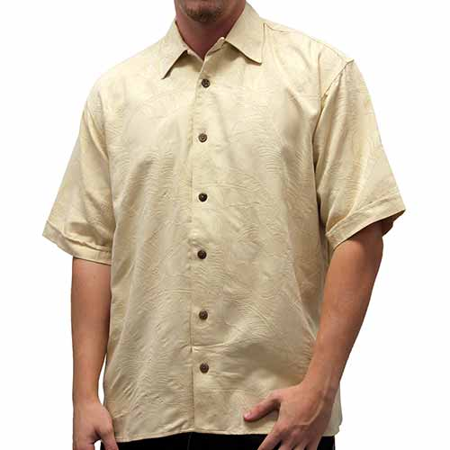 Men's Hawaiian Print Button Down Shirt 449592 - theflagshirt