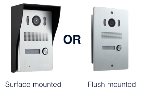 Flush-mounted door entry system