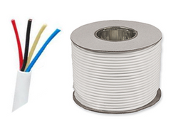 4 core alarm cable - white 100m