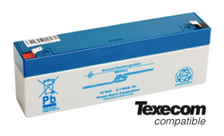 Texecom 12V 2.1ah alarm battery