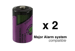 Wireless burglar alarm sensor battery x2 pack - 1/2 AA