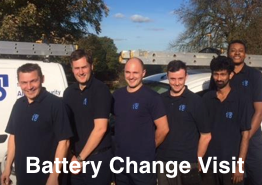 Alarm Battery replacement service - engineer visit