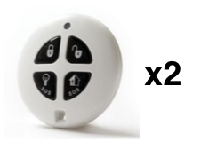 x2 Infinite Prime 4 Button Keyfobs