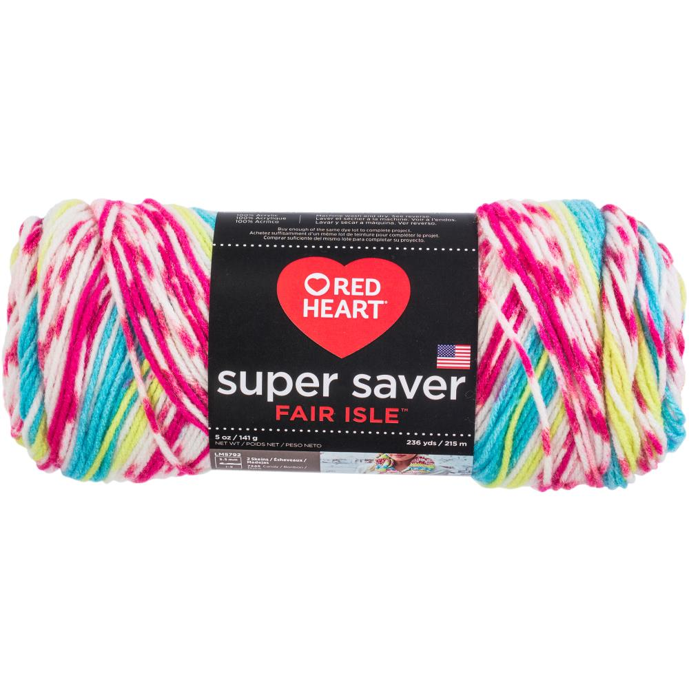 Red Heart Super Saver........ Fair Isle Yarn