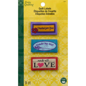 Dritz Quilting Sew-In Embroidered Labels (3244)