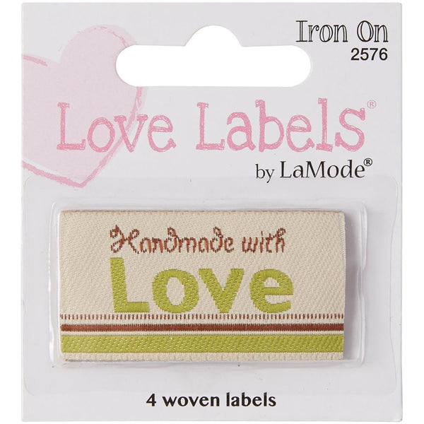 Blumenthal Iron-On Love labels 4/Pkg