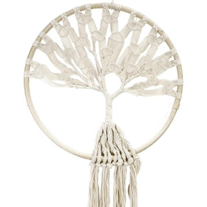 "Macrame........ Hoop W/Tree Of Life 51"" (130cm) Wall Hanging"