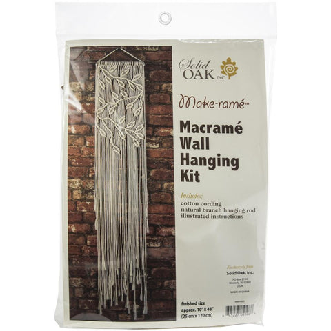 Macrame Wall Hanger Kit - Leaves & Branches