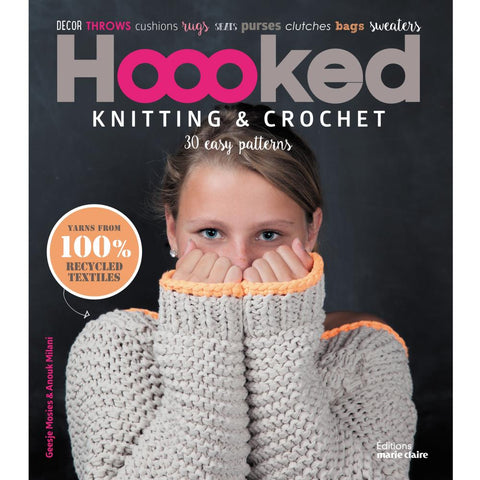 Hooked Knitting and Crochet Pattern Book