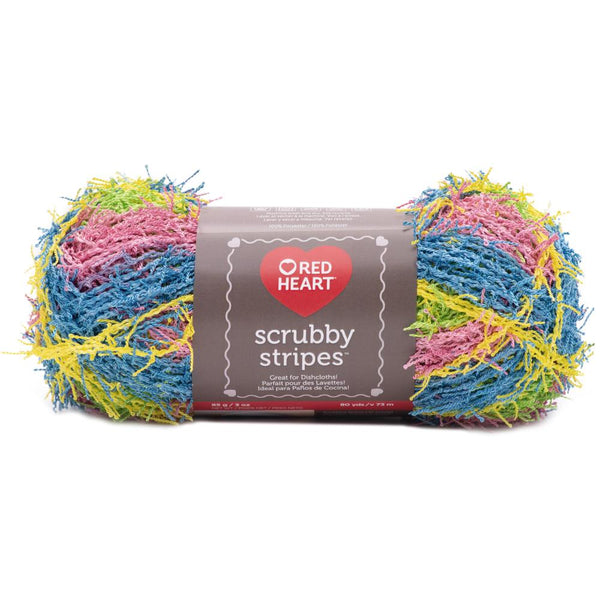 Red Heart Scrubby Stripes
