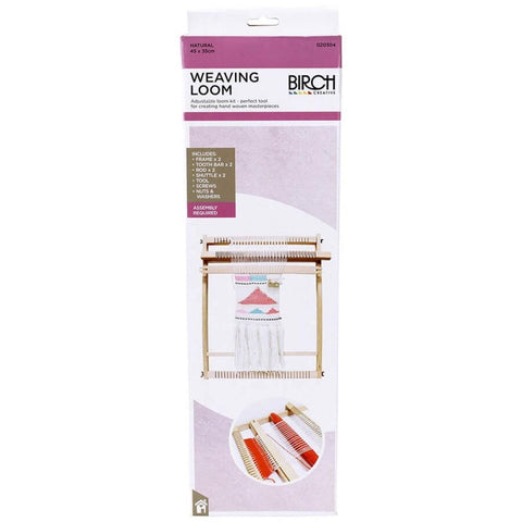 Birch Weaving Loom Adjustable
