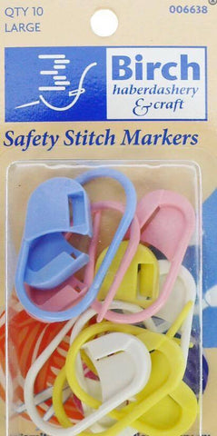 SAFETY STITCH MARKERS LARGE QTY 10