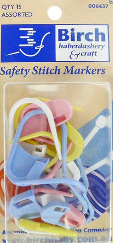 SAFETY STITCH MARKERS ASST QTY 15  ~~Birch