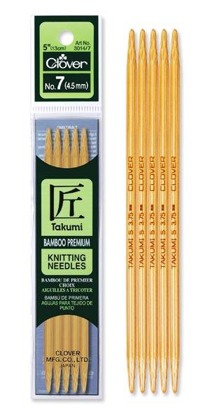 Takumi Double Pointed Bamboo Knitting Needles