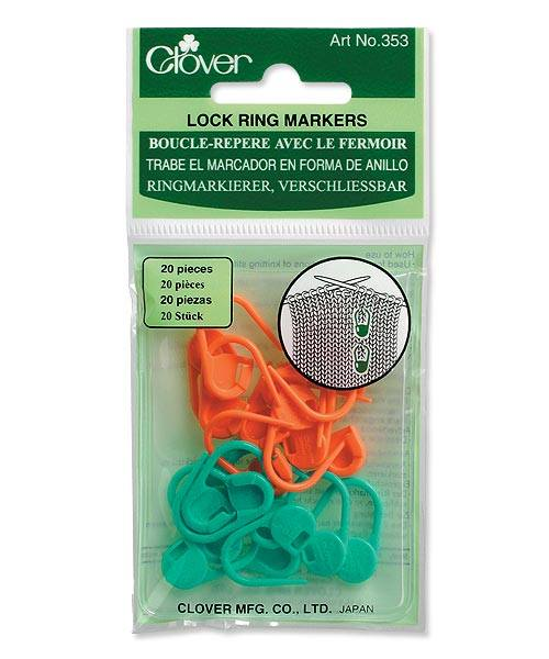 Locking Stitch Markers - Clover #353