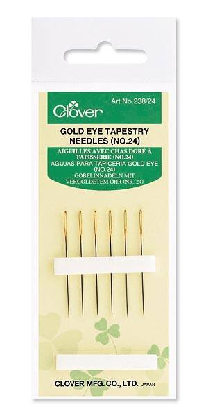 Gold Eye Tapestry Needles No. 24