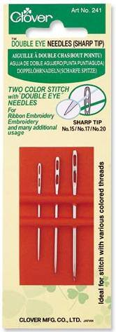 Double Eye Needles (Sharp Tip)