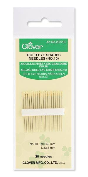 Gold Eye Sharp Needles No. 10