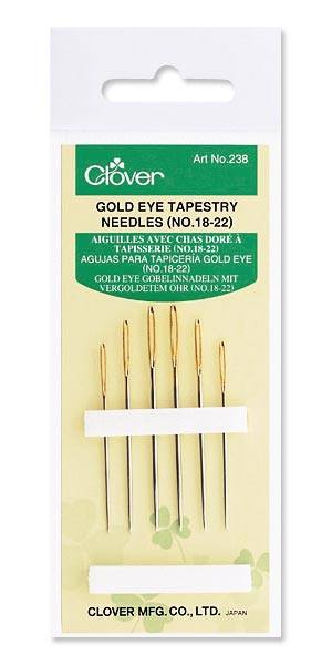 Gold Eye Tapestry Needles No. 18-22