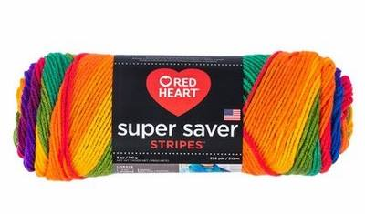 Red Heart Super Saver.... Stripes