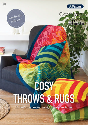 Patons/Panda/Cleckheaton - Cosy Throws & Rugs (360)