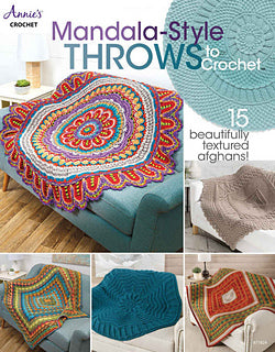 Annie's Crochet Mandala-Style throws to Crochet