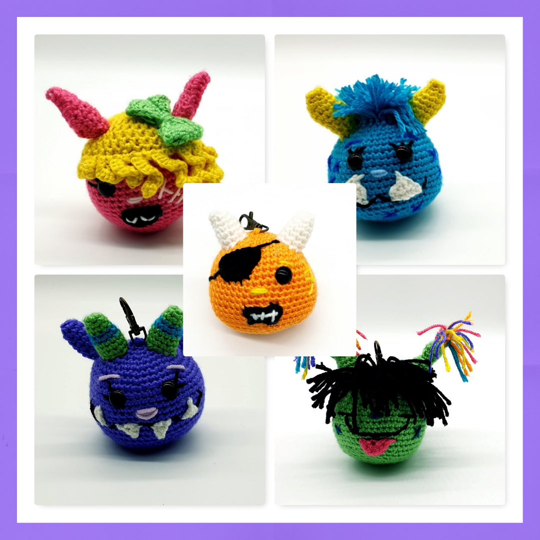 Mini Monsters Backpack Buddies -  Crochet Pattern