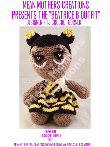 Beatrice Bee Outfit Crochet Pattern
