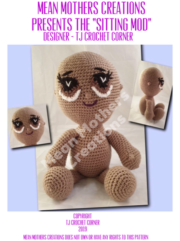 Sitting Mod Crochet Pattern