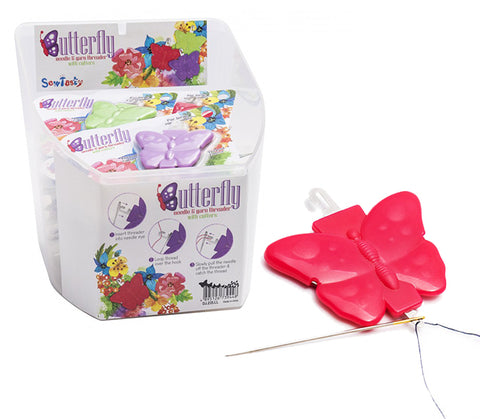BUTTERFLY NEEDLE AND YARN THREADER