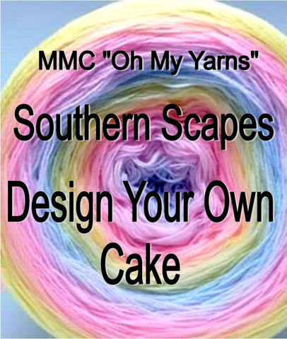 "☆ Southern Scapes Cake☆  ""Design your own colourway"" - Oh My Yarns"