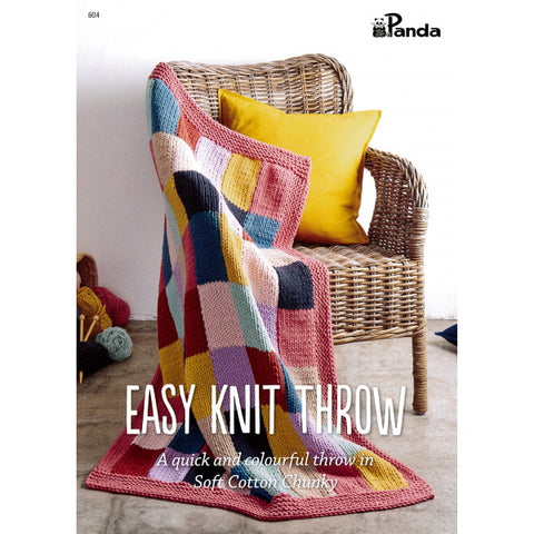 Panda Easy Knit Throw