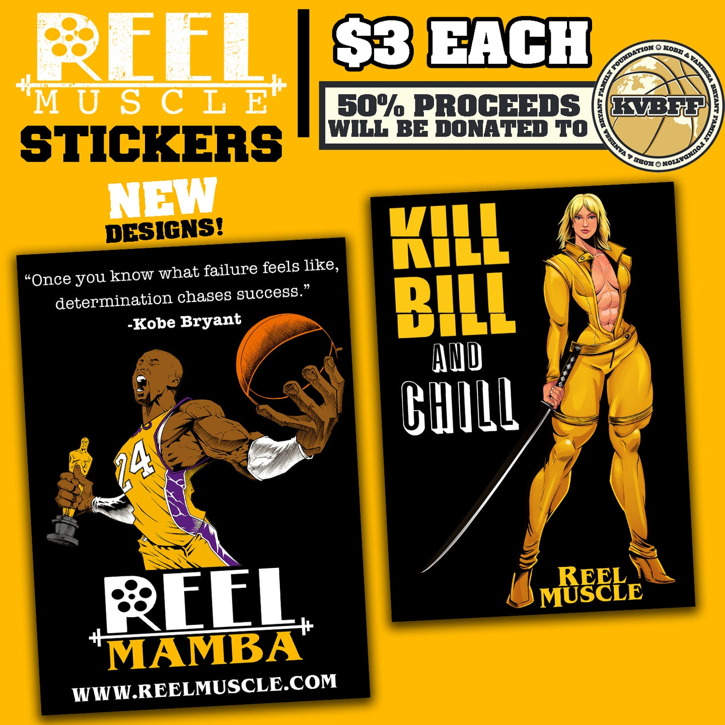Kobe Bryant & Kill Bill Stickers  3