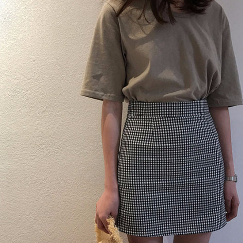 Michelle Checkered Skirt