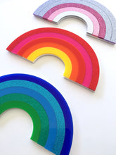 RAINBOWS Design Your Own Laser Cut Colourful Acrylic Wall Art Kids Room Plaque