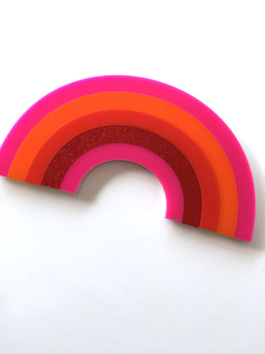RAINBOWS Laser Cut Colourful Acrylic Wall Art Kids Room Plaque