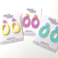 Bubblegum Geos Statement Acrylic Earrings