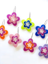 Jelly Florals Satin Translucent Acrylic Earrings