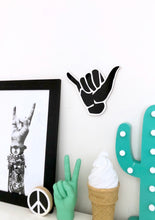 SHAKA Hand Small Acrylic Wall Decor Beach Surf Art