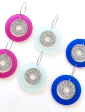 Jelly Glitter Bombs Hoops Satin Translucent Acrylic Earrings