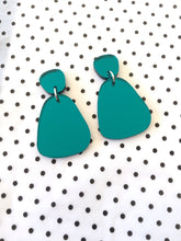 Organic Mirror Drops Acrylic Statement Earrings Choose Your Colour