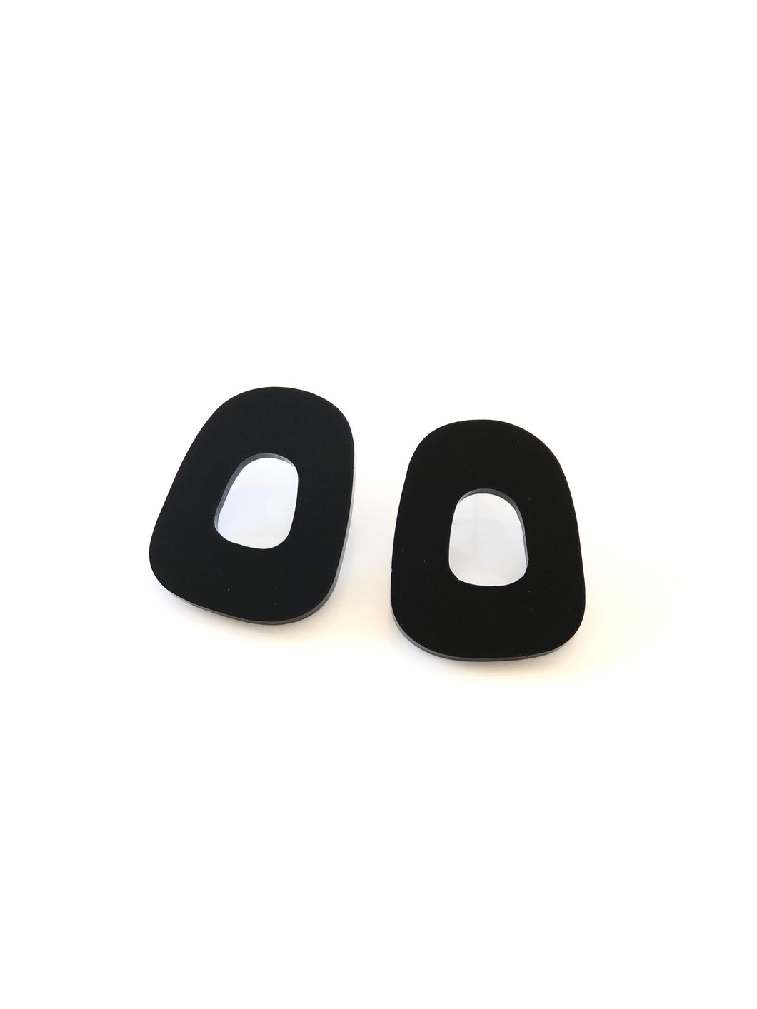 Organic Statement Studs Acrylic Earrings