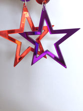 Supaglam Purple Star Mirror Acrylic Statement Earrings