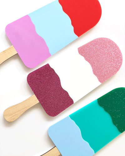 ICE CREAM Triple Layer Laser Cut Colourful Acrylic Wall Art