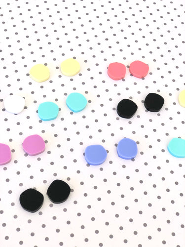 Geo Pops Satin Matte Studs Acrylic Earrings