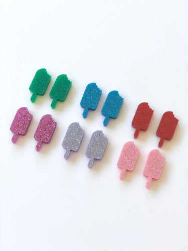 Glitter Ice Creams Stud Earrings Mixed Colours
