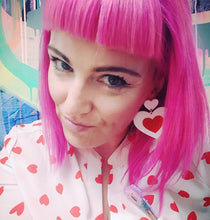 Candy Neon 55mm Hot Pink Fluoro Statement Earrings