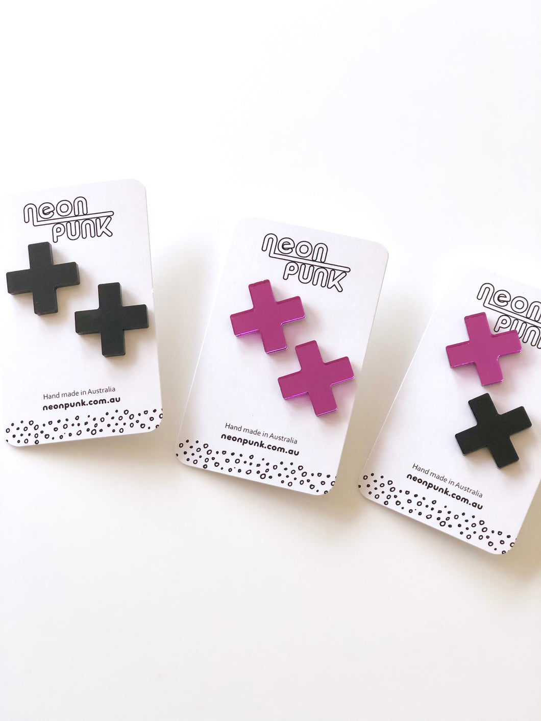 Don't Cross Me Statement Studs Acrylic Earrings