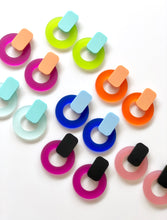 Jelly Circle Statement Studs Translucent Acrylic Earrings